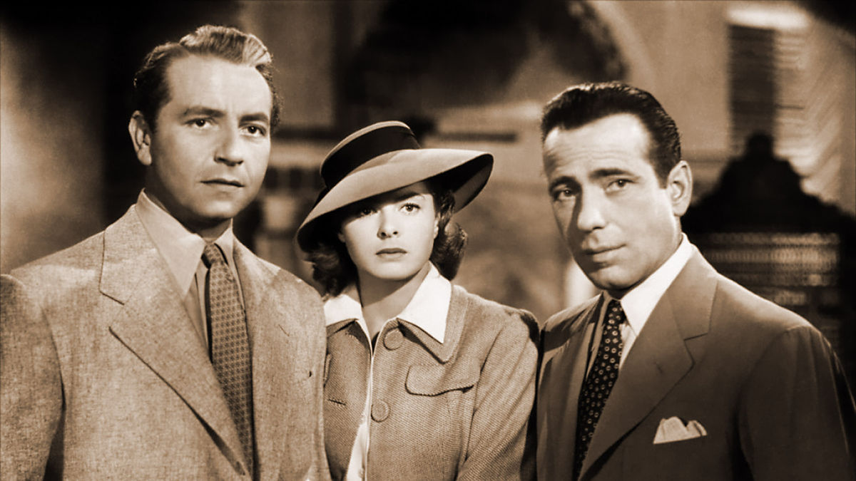 Casablanca starring Humphrey Bogart and Ingrid Bergman
